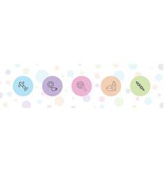 5 dish icons vector