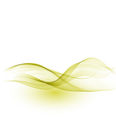 Abstract background green waved lines vector