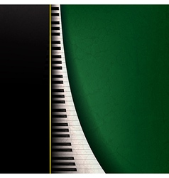 abstract grunge music background with piano keys vector image