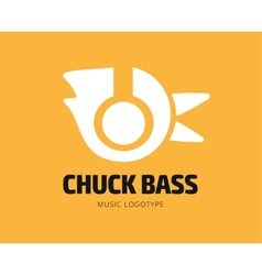 Abstract music chuck logo template for vector