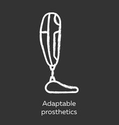 Adaptable prosthetics chalk icon missing body vector