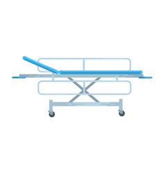 Adjustable mobile hospital bed medical equipment vector