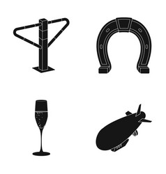 Alcohol racecourse and or web icon in black style vector