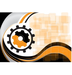 background with cogwheel vector image