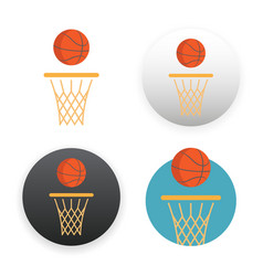 basketball icon on white vector image