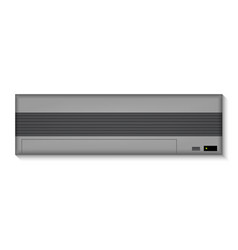 black air conditioner for the wall vector image