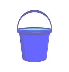 Blue bucket icon vector image