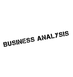 Business Analysis rubber stamp vector
