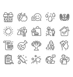 Business icons set included icon as medical vector