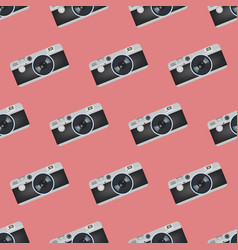 Camera seamless pattern vector
