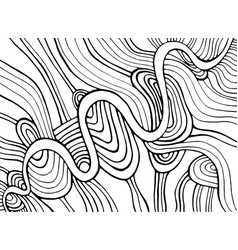 Coloring page abstract pattern maze wavy vector