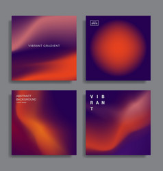 Design templates with vibrant gradient shapes vector