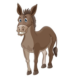 Donkey with happy face vector
