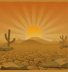 Dry desert vector