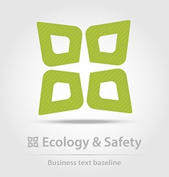 Ecology and safety business icon vector image
