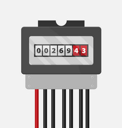 Electric meter flat vector