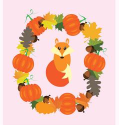 Fall fox vector