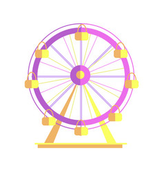 ferris wheel closeup poster vector image