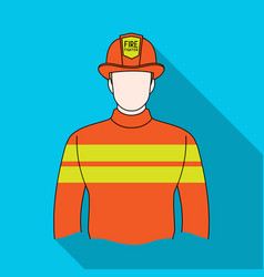 Firefighterprofessions single icon in flat style vector
