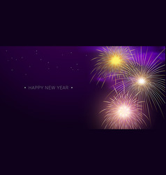 Fireworks background template for new year vector