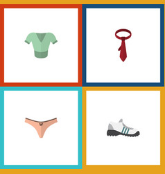 Flat icon garment set of casual lingerie vector