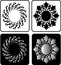 Floral element 4 vector image