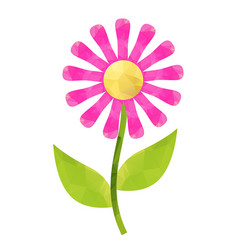 Flower with polygonal vector