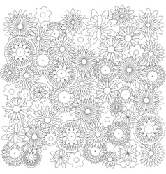 Flowers background catcher for coloring book vector