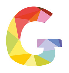 G colorful letter isolated on white background vector