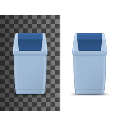 Garbage basket litter bin isolated box vector