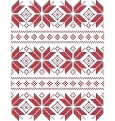 Geometric knitted pattern vector