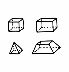 Geometric solids vector