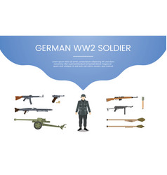 German ww2 soldier army concept theme for vector