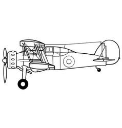 Gloster gladiator side vector