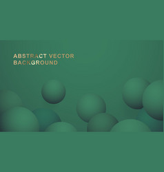 green premium ball abstract background vector image