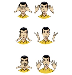 hand expressions vector image