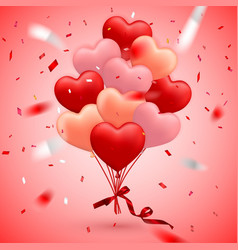 happy valentines day background red balloon in vector image