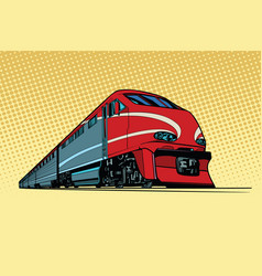 High speed passenger train vector