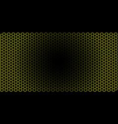 Honeycomb background of geometric hexagons vector
