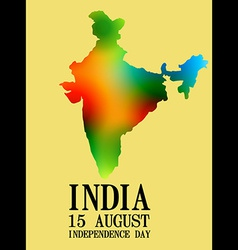 Indian map design vector