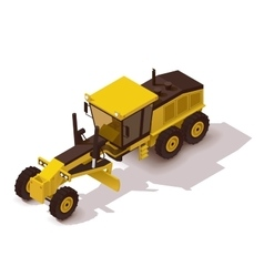 isometric grader vector image