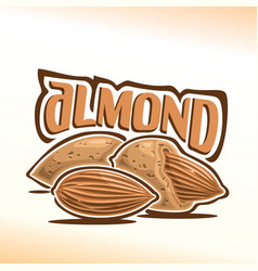 logo for almond nuts vector image