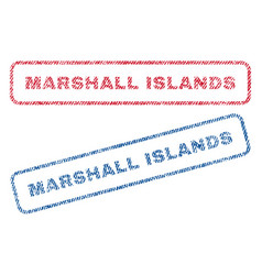 Marshall islands textile stamps vector