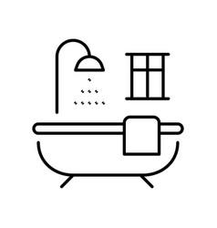 monochrome outline bathroom icon vector image