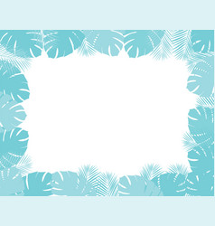 palm leaves frame vector image