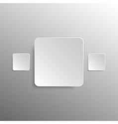 Paper Banner Design Mockup Square vector