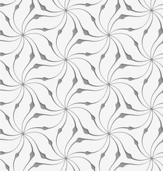 Perforated floral leafy shapes star vector