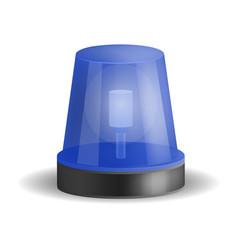 police siren icon realistic style vector image
