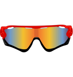 Red sport sunglasses vector