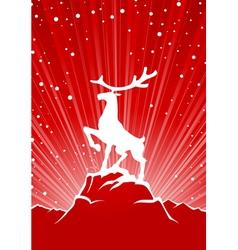Reindeer winter background vector